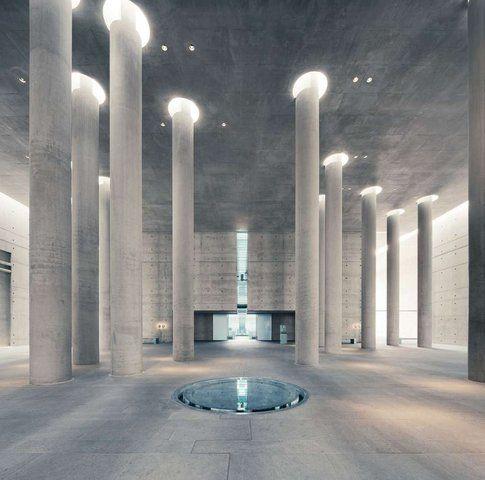 Baumschulenweg Crematorium. Berlino. Progetto: Alex Schultes and Charlotte Frank