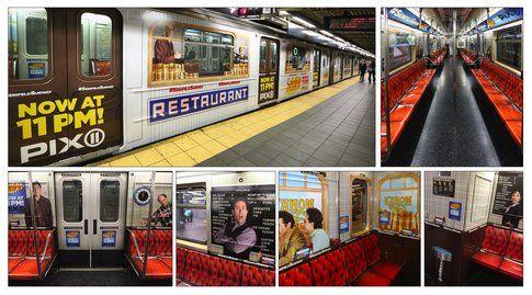 Seinfeld on PIX 11. Sony TV Seinfeld Interior and Exterior MTA Wrap