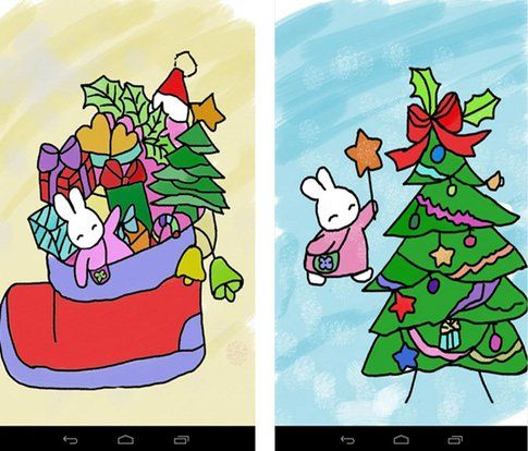 Kids Paint Christmas Cards