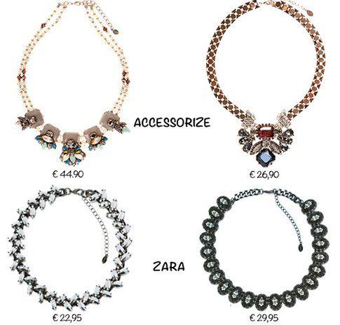 Le collane di Accessorize e Zara