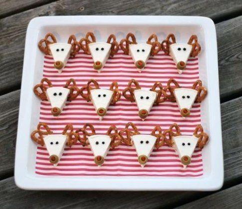 Snack con renne natalizie