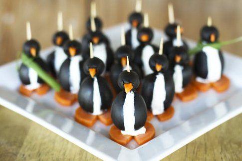 Pinguini con olive nere