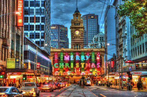 Christmas in Melbourne by Chris Phutully