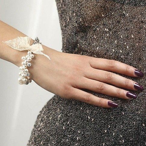 Bracciale multifilo in argento con perle Swarovski boccadamo
