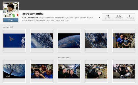 Samantha Cristoforetti on Instagram