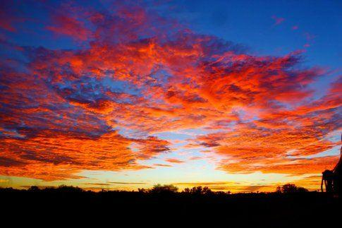 Il tramonto a Ayers Rock-Uluru