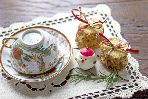 Biscotti al rosmarino e croccante muscovado