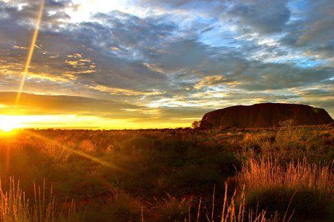 L'alba a Ayers Rock-Uluru