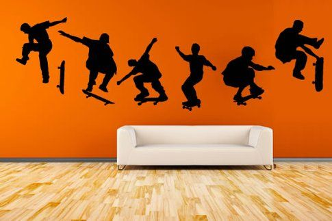 Skateboarders Wall Decal