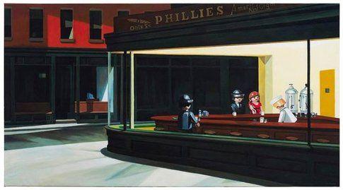 """""""I nottambuli"""" di Hopper"""