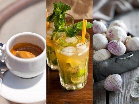 I tre nemici numero uno dell'alito: caffè, alcool e aglio