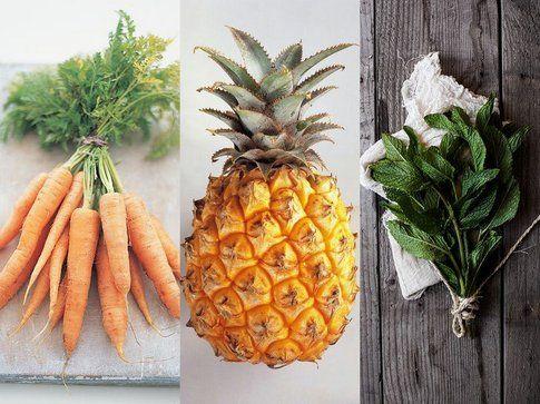 Tre alleati contro l'alito cattivo: alimentazione a base di frutta e verdura, succo d'ananas e foglie di menta - pinterest