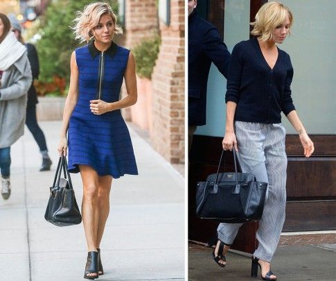 Il look casual di Sienna Miller. Foto: Vogue- WhoWhatWhere