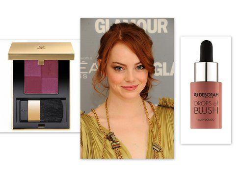 Blush Marsala come Emma Stone usando i blush di YSL e  Pupa