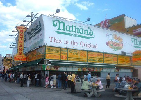I famosi Hot Dog di Nathan's