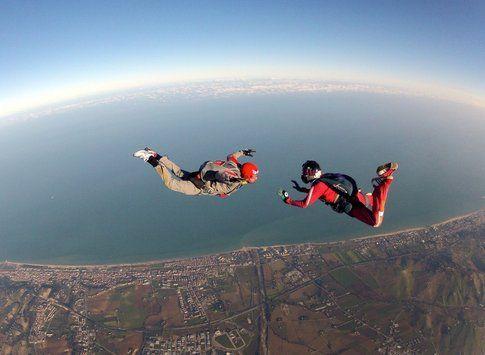 Lancio di coppia con il paracadute – Fonte: Pinterest