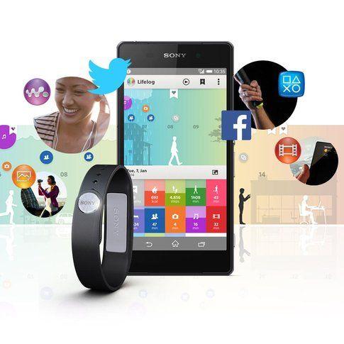 Ogni bracciale ha un'app collegata, nella foto quello di Sony