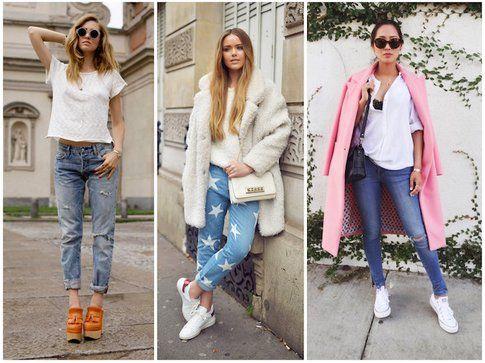 Tre top blogger indossano i jeans in modo basic : Chiara Ferragni di theblondesalad, Kristina Bazan di Kayture e Aimee Song