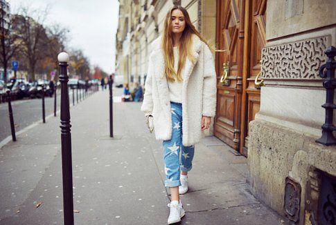Kristina Bazan di Kayture.com con i nuovi Jeans di Stella McCartney