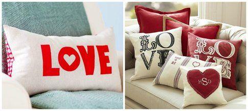 Collage cuscini in tema San Valentino  - Pinterest