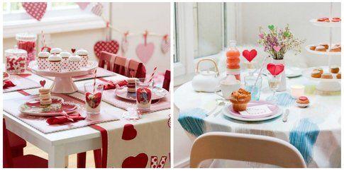 Proposte allestimento tavola per San Valentino