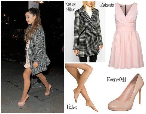 Ariana Grande - look romantico in rosa