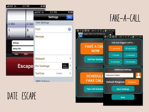 Fake-a-call e DateEscape