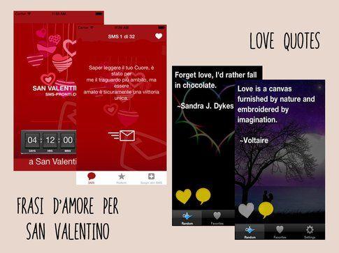 Frasi d'amore per San Valentino e Love Quotes
