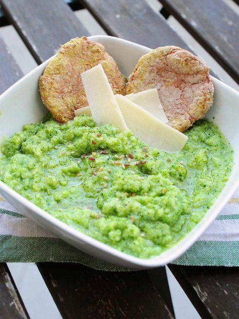 Crema di broccoli con focaccine senza lievito alla curcuma. Ricetta e foto by La Kritchen