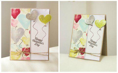 Biglietto in cartoncino con palloncini in 3D – MissHobby.com