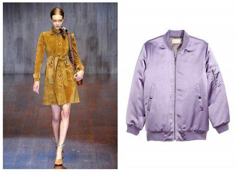 Giacche stile anni 70 - Gucci, H&M