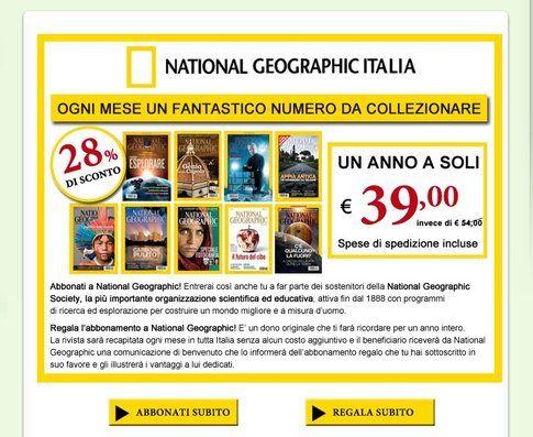 Abbonamento National Geographic