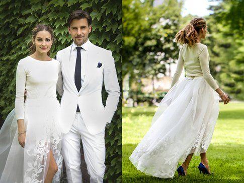 L'originale abito da sposa di Olivia Palermo. Foto: Olivia Palermo