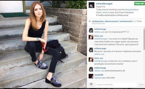 la blogger Chiara Ferragni su Instagram