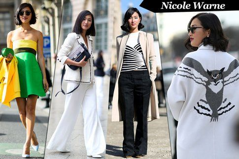 Alcuni look da Fashion Week della blogger australiana Nicole Warne di garypeppergirl.com - fonte: grazia.it