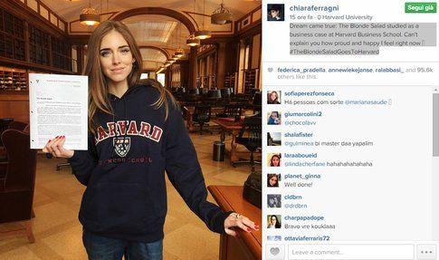 Chiara Ferragni ad Harvard
