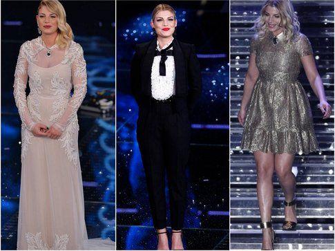 Emma si salva sempre a parte la prima sera, il miglior look però è lo smoking!- fonte: la press