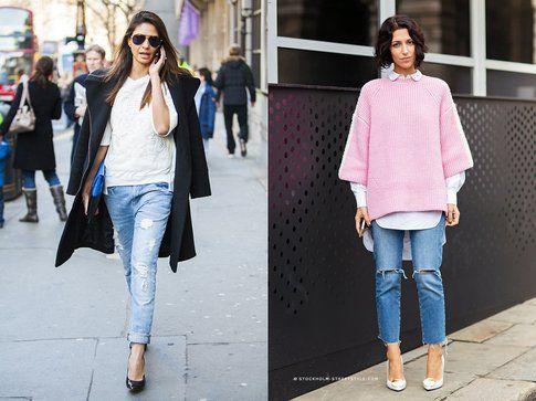 Boyfriend jeans + pumps. Foto: CutyPaste-StockholmStreetStyle