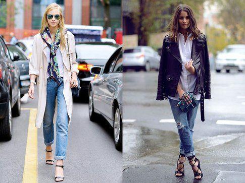 Boyfriend jeans + sandali. Foto: WhoWhatWear-PaperBlog
