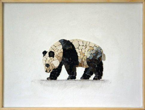 Aneme Mosaico. Ailuropoda melanoleuca - 37,5 x 28,5 cm - 2014