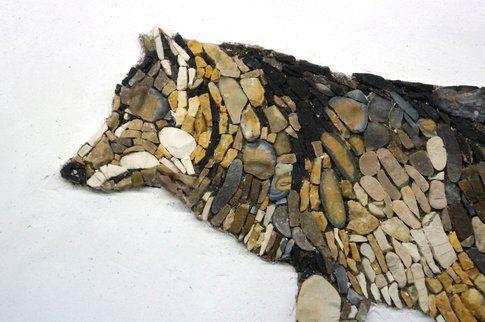 Aneme Mosaico. Canis Lupus - 37,5 x 28,5 cm - 2014