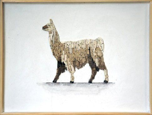 Aneme Mosaico. Lama glama - 37,5 x 28,5 cm - 2014