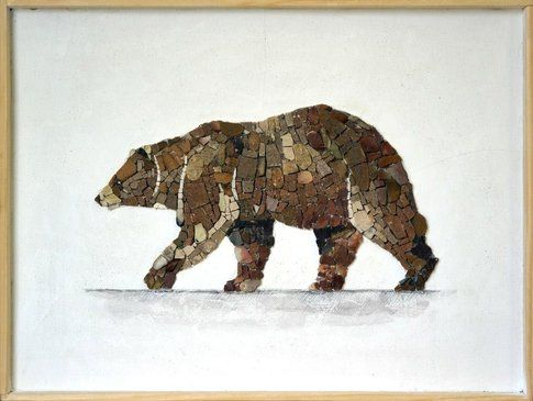 Aneme Mosaico. Ursus arctos -37,5 x 28,5 cm - 2014