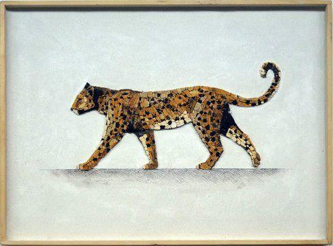 Aneme Mosaico. Panthera pardus - 37,5 x 28,5 cm - 2014