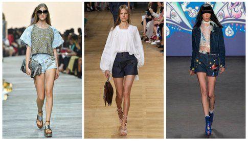 Shorts in denim - collezioni primavera/estate 2015