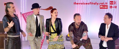 I coach di The Voice of Italy - foto dalla pagina Facebook del programma