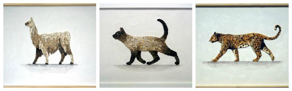 Bellissimi ritratti di animali realizzati a mosaico