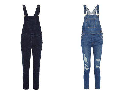 Le salopette di jeans di Current Elliott e Frame Denim