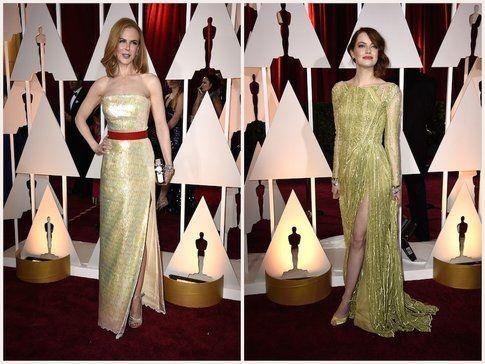 Due abiti gialli portati divinamente sia da Emma che da Nicole - fonte: vanityfair.com