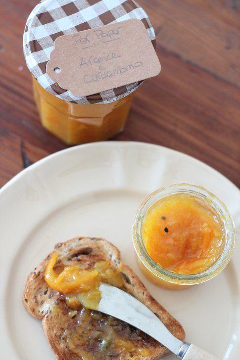 La ricetta marmellata di arance, scorrette e cardamomo